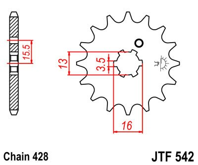 Priekinė žvaigždė JT (JTF 542-13)