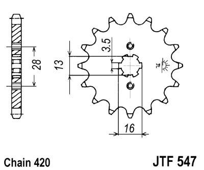Priekinė žvaigždė JT (JTF 547-13)