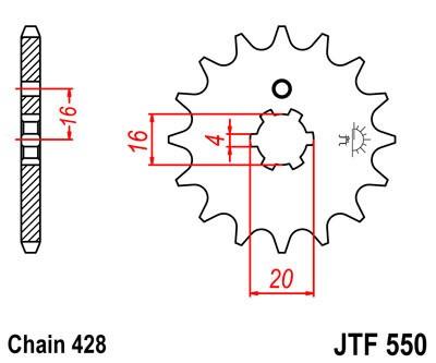 Priekinė žvaigždė JT (JTF 550-16)