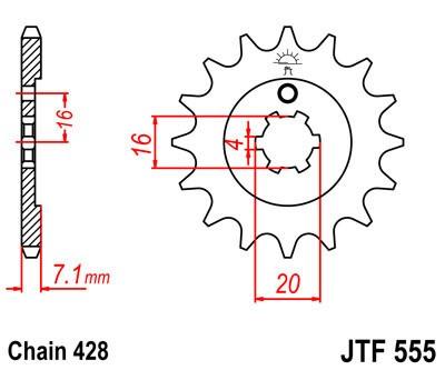 Priekinė žvaigždė JT (JTF 555-14)