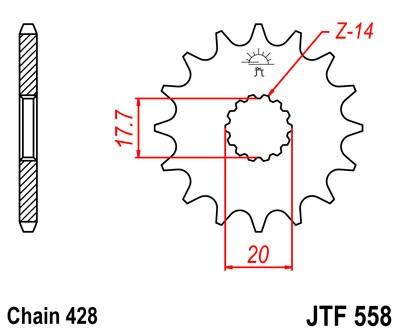 Priekinė žvaigždė JT (JTF 558-18)