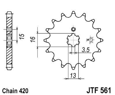 Priekinė žvaigždė JT (JTF 561-16)