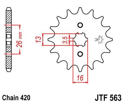 Priekinė žvaigždė JT (JTF 563-16)