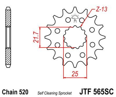 Priekinė žvaigždė JT (JTF 565-14 SC)
