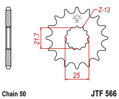 Priekinė žvaigždė JT (JTF 566-13)