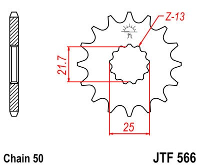 Priekinė žvaigždė JT (JTF 566-16)