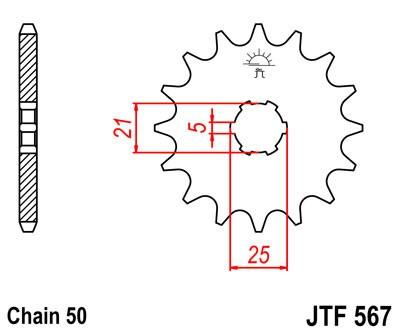 Priekinė žvaigždė JT (JTF 567-16)