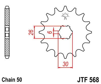 Priekinė žvaigždė JT (JTF 568-16)