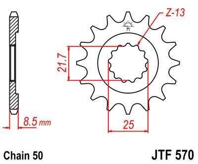 Priekinė žvaigždė JT (JTF 570-16)