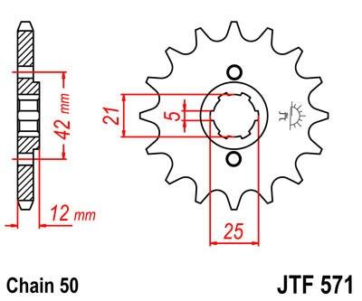 Priekinė žvaigždė JT (JTF 571-16)