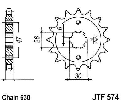 Priekinė žvaigždė JT (JTF 574-16)