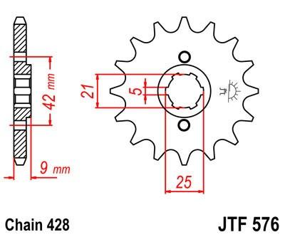 Priekinė žvaigždė JT (JTF 576-18)