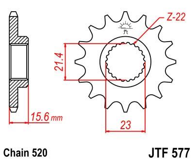 Priekinė žvaigždė JT (JTF 577-16)