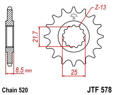 Priekinė žvaigždė JT (JTF 578-16)