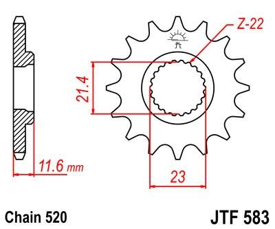 Priekinė žvaigždė JT (JTF 583-13)