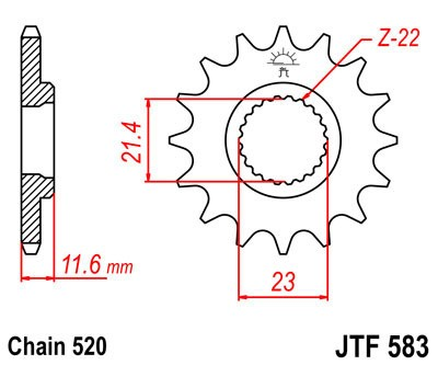 Priekinė žvaigždė JT (JTF 583-14)