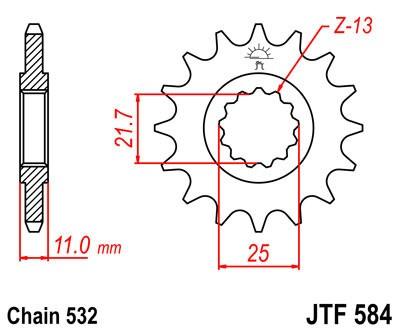 Priekinė žvaigždė JT (JTF 584-15)