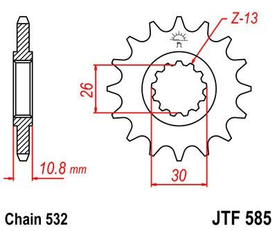 Priekinė žvaigždė JT (JTF 585-17)