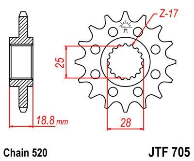 Priekinė žvaigždė JT (JTF 705-15)