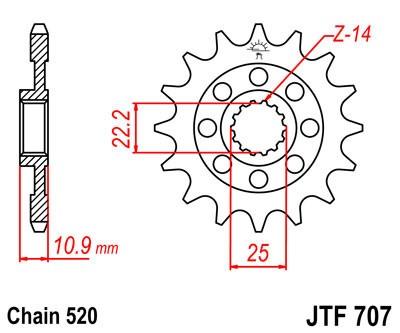 Priekinė žvaigždė JT (JTF 707-15)