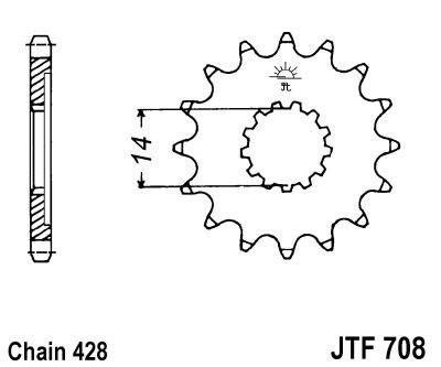 Priekinė žvaigždė JT (JTF 708-14)
