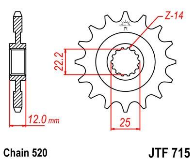 Priekinė žvaigždė JT (JTF 715-12)