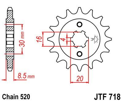 Priekinė žvaigždė JT (JTF 718-12)