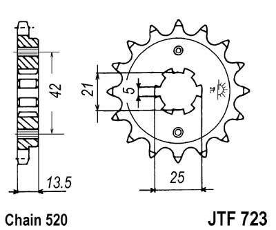 Priekinė žvaigždė JT (JTF 723-14)
