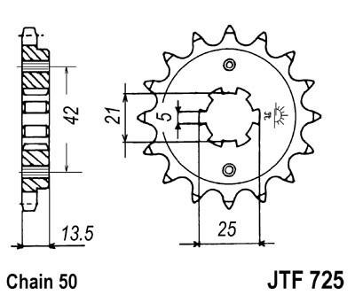 Priekinė žvaigždė JT (JTF 725-15)