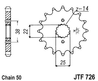 Priekinė žvaigždė JT (JTF 726-15)