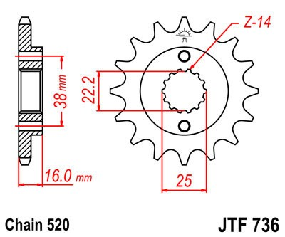 Priekinė žvaigždė JT (JTF 736-13)