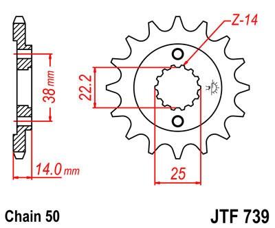 Priekinė žvaigždė JT (JTF 739-15)