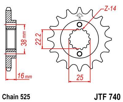 Priekinė žvaigždė JT (JTF 740-15)