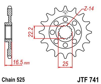 Priekinė žvaigždė JT (JTF 741-14)