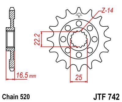 Priekinė žvaigždė JT (JTF 742-14)
