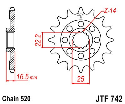 Priekinė žvaigždė JT (JTF 742-15)