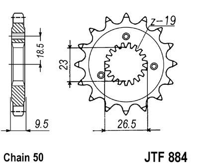 Priekinė žvaigždė JT (JTF 884-21)