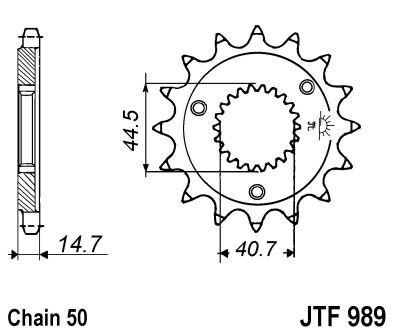 Priekinė žvaigždė JT (JTF 989-21)