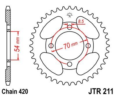 Galinė žvaigždė JT (JTR 211-40)