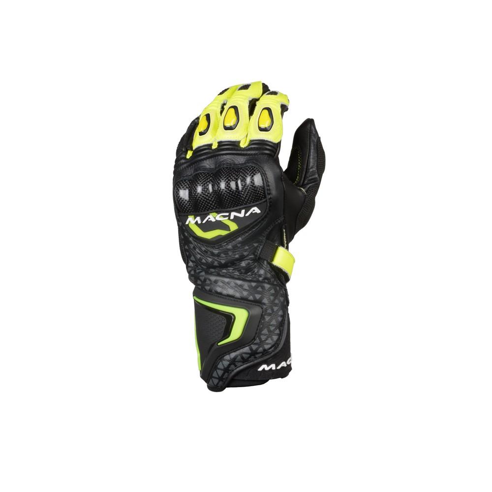 Pirštinės MACNA Track R (Black/Grey/Fluo yellow)
