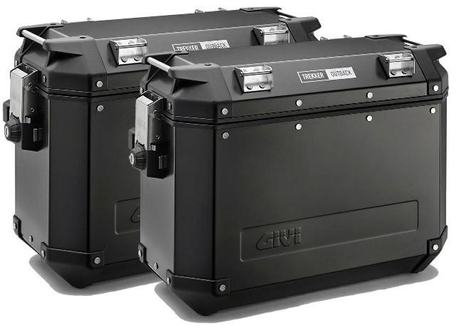 Šoninių dėžių komplektas Givi Trekker Outback 2x37Ltr (Matinės juodos spalvos)