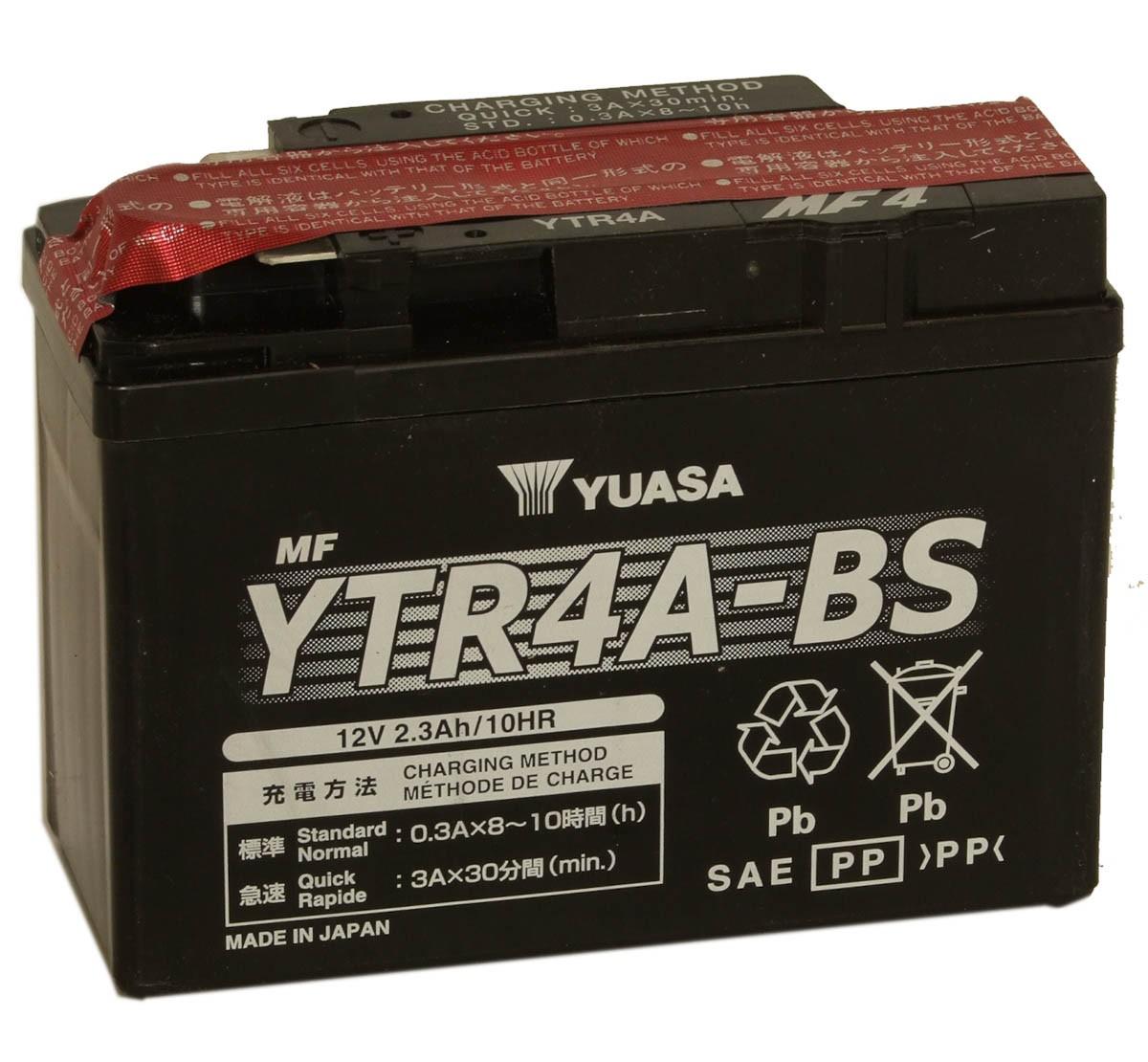 Akumuliatorius Yuasa YTR4A-BS