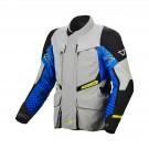 Textile jacket Macna Fusor (L-Grey/Blue/Black)