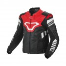 Leather jacket Macna Tracktix (Black/White/Red)